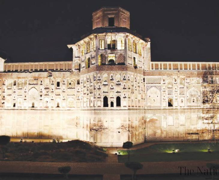 illumination-of-lahore-fort-s-picture-wall