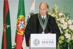 His Highness Prince Karim Aga Khan delivers his acceptance remarks upon receiving an Honorary Doctorate from Universidade NOVA de Lisboa. (image credit: The Ismaili)