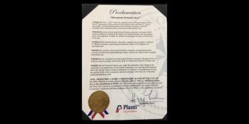 "Mayor of the City of Plano, Texas (USA) proclaims ""Diamond Jubilee Day"""