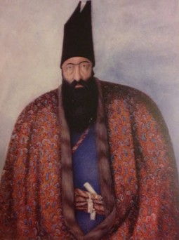Portrait of Mirza Aqa Khan Nuri (d.1865), chief accountant of the army of the Qajar monarch