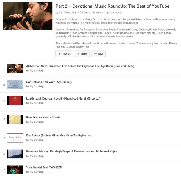 Part 2 -- Devotional Music RoundUp -- Collaboration between Aly Sunderji and Sahil Badruddin