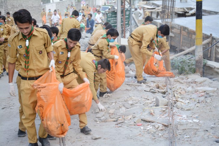 Ismaili Boys Scouts Association Gilgit - Keeping cities clean