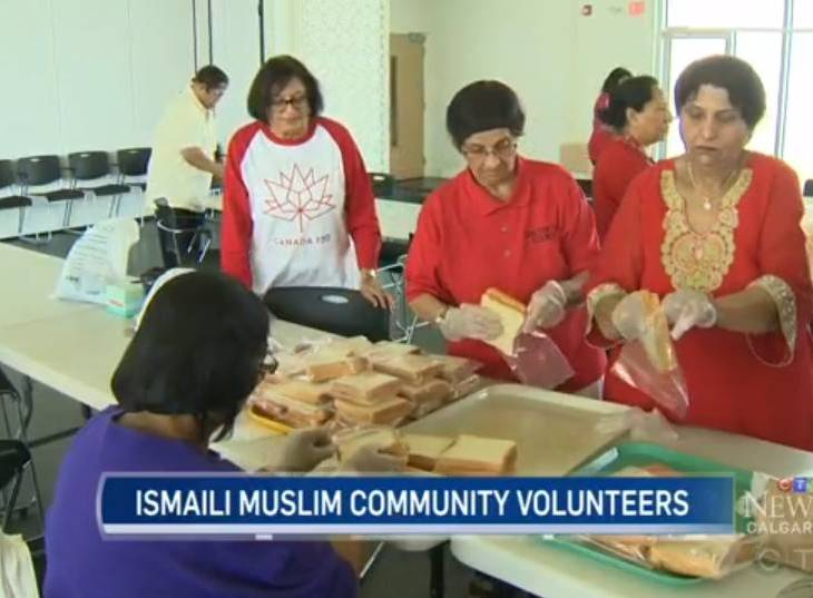 CTV Calgary: Members of Calgary's Ismaili Muslim community feed the hungry