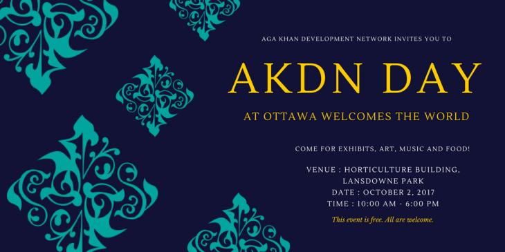 AKDN Day at Ottawa Welcomes the World