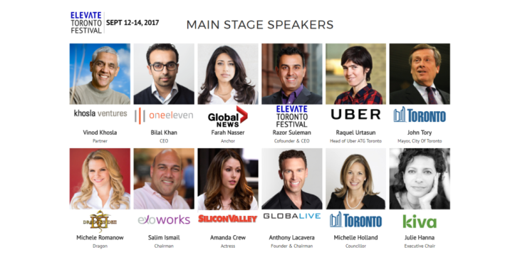Several Ismaili Tech Superstars to Join Elevate Toronto Festival