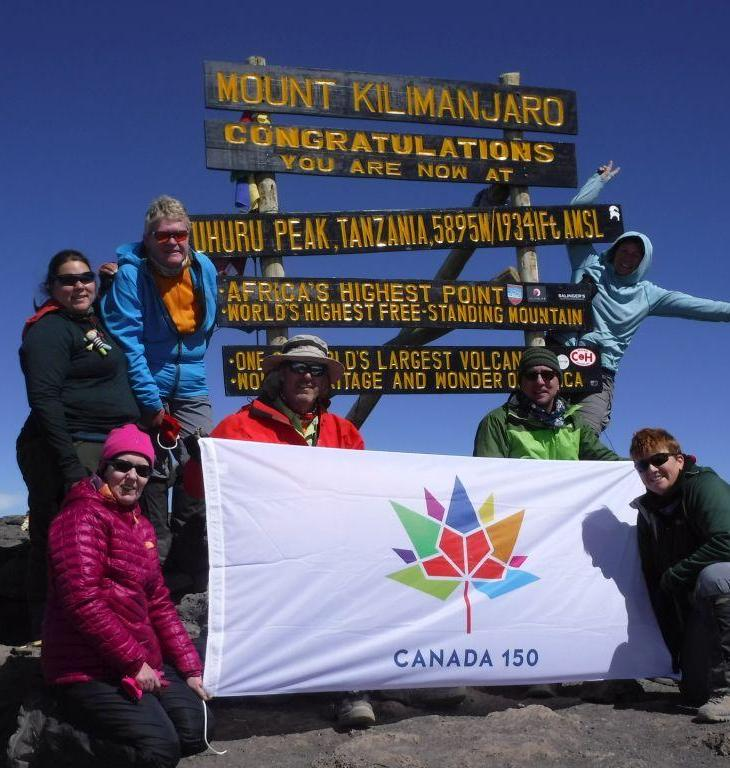 """Canada 150 flag on the """"Roof of Africa"""""""