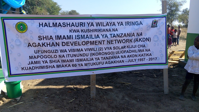 Aga Khan Development Network's Water project to benefit more than 6,000 villagers in Iringa, Tanzania