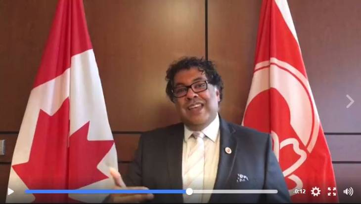 Canadian Ismaili Mayor, Naheed Nenshi congratulates the community for volunteering on Ismaili Civic 150 Day