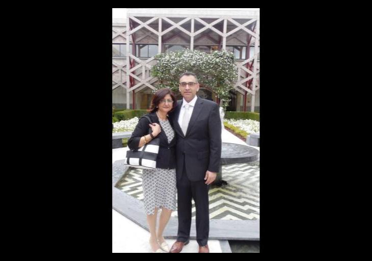 Richad his wife Sairoza Sultan Jessa photo