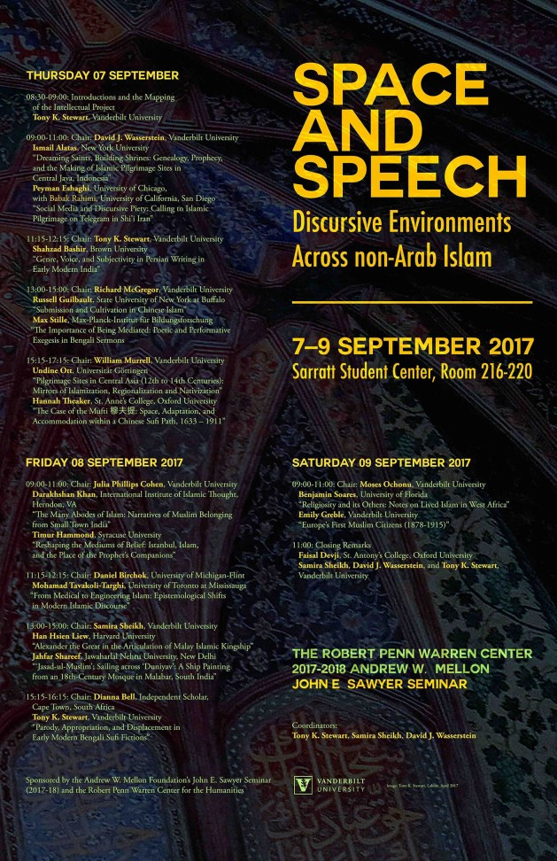 SPACE AND SPEECH: DISCURSIVE ENVIRONMENTS ACROSS NON-ARAB ISLAM (Image credit: Vanderbilt University)