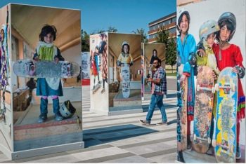 Skate Girls of Kabul exhibit tells 'story of Afghan girls helping each other'