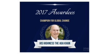 United Nations Foundation to Honor His Highness the Aga Khan with 2017 Champion for Global Change Award