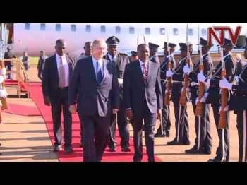 NTV Uganda Video: His Highness the Aga Khan arrives ahead of independence day