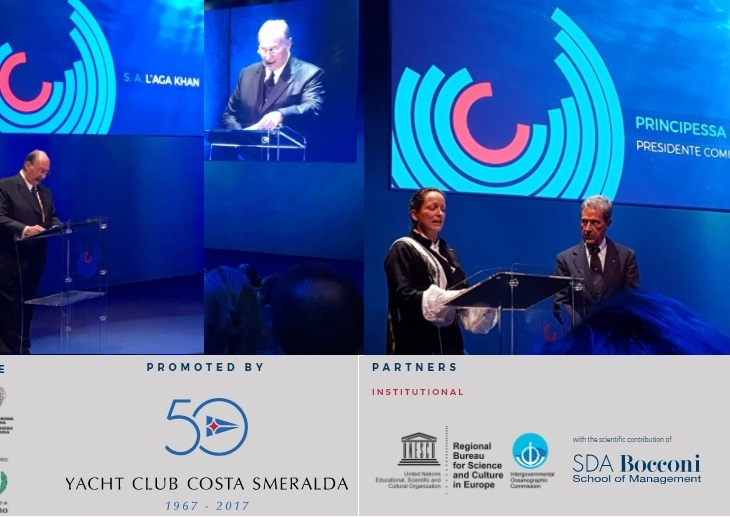 Princess Zahra & His Highness Prince Karim Aga Khan launch One Ocean Forum in Milan, Italy as part of the 50 years of Yacht Club Costa Smeralda celebrations