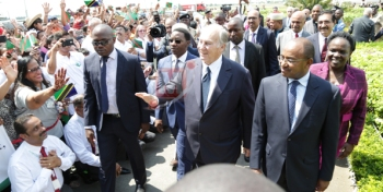 Photo Gallery: Grand reception as His Highness the Aga Khan arrives in Dar es Salaam, Tanzania