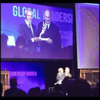 His Highness the Aga Khan receives UN Foundation's Global Change Award from former UN Secretary General Kofi Anan