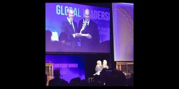 His Highness the Aga Khan receives UN Foundation's Global Change Award from former Secretary General Kofi Anan