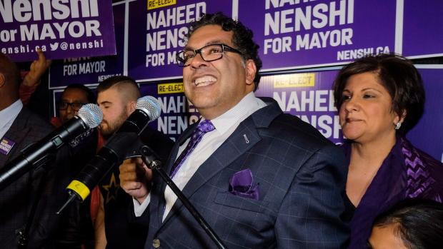 Calgary Mayor Naheed Nenshi relected