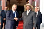 8 October 2017: NTV Uganda: President Yoweri Museveni welcomes His Highness the Aga Khan to the State House in Entebbe