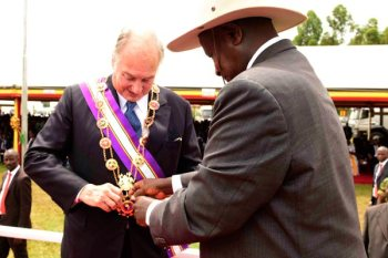 Uganda's Grand Master Pearl of Africa Medal for His Highness the Aga Khan