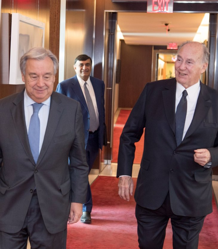 UN Secretary-General with His Highness the Aga Khan: A good friend and great humanitarian!