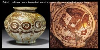Fatimid craftsmen were the earliest to make large-scale decorative lustreware items