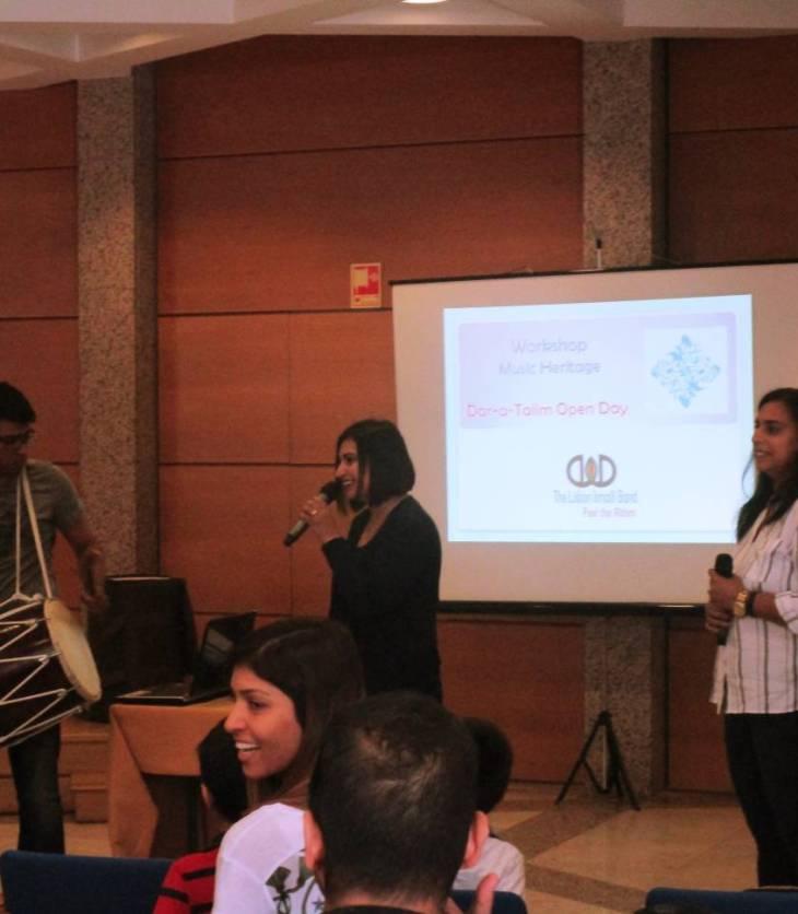 Lisbon Ismaili Band conducts a musical workshop
