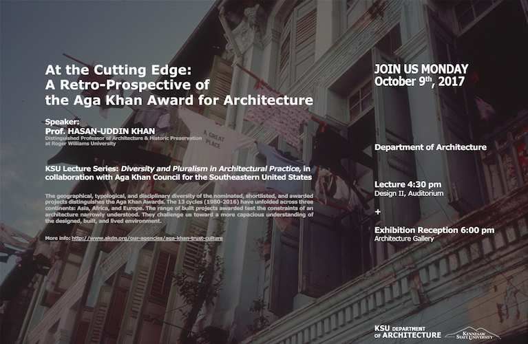 Aga Khan Council in collaboration with Kennesaw State University Department of Architecture to present Aga Khan Award for Architecture Lecture in Atlanta