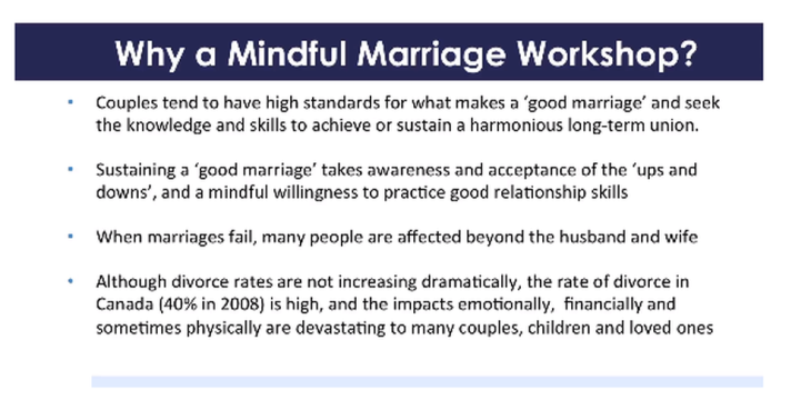 Ismaili Council for Canada Video: Mindful Marriage Workshop