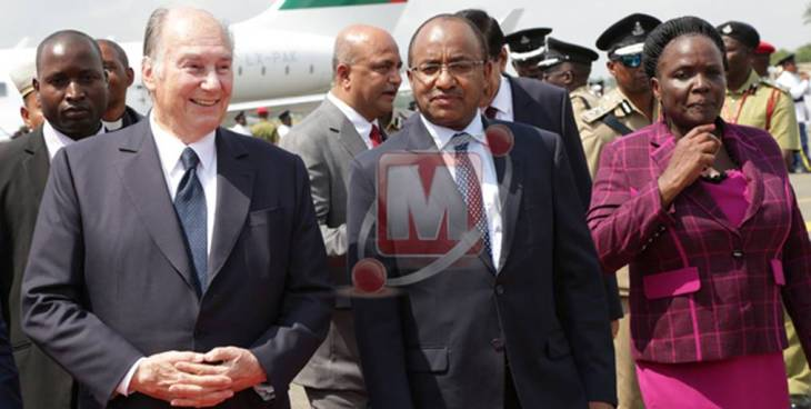 Grand reception as His Highness the Aga Khan arrives in Dar