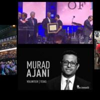 Murad Ajani, President Southwest Ismaili Council of the United States of America, represents Ismaili Volunteers in receiving Points of Light Award from Five Former US Presidents