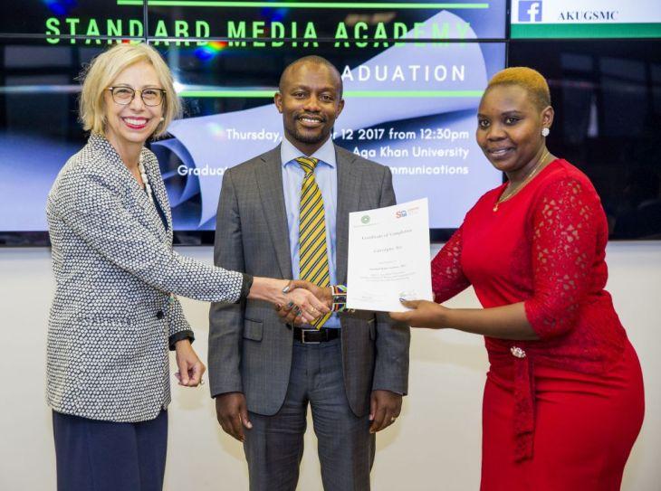 Trainee journalists graduate from Standard Media Academy Program   Aga Khan University