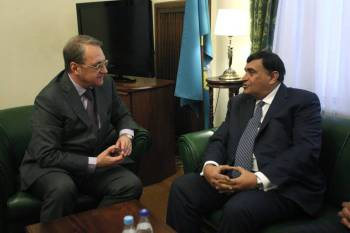 A delegation of the Aga Khan Foundation led by Shafik Sachedina meets Russian Deputy Foreign Minister Mikhail Bogdanov