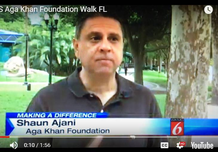 Shaun Ajani: CBS News: Aga Khan Foundation Walk Tampa, Florida