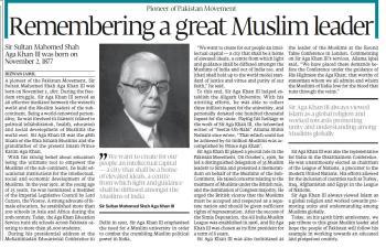 Sir Aga Khan III: Remembering a great Muslim leader | Express Tribune
