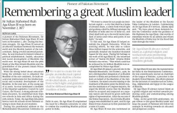 Sir Aga Khan III: Remembering a great Muslim leader | Express Tribune
