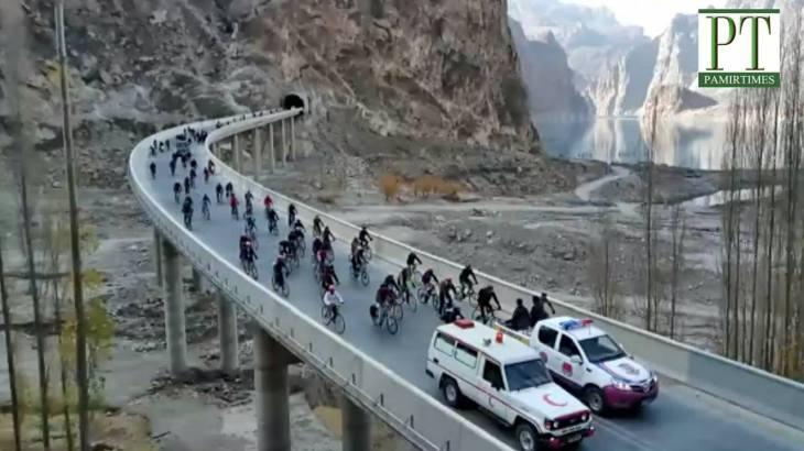 Diamond Jubilee Cycling Rally held in Upper Hunza