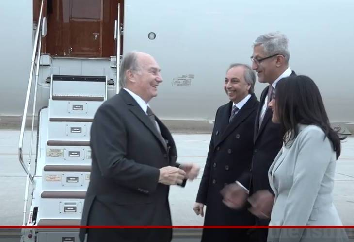 His Highness the Aga Khan arrives in Canada (Video)