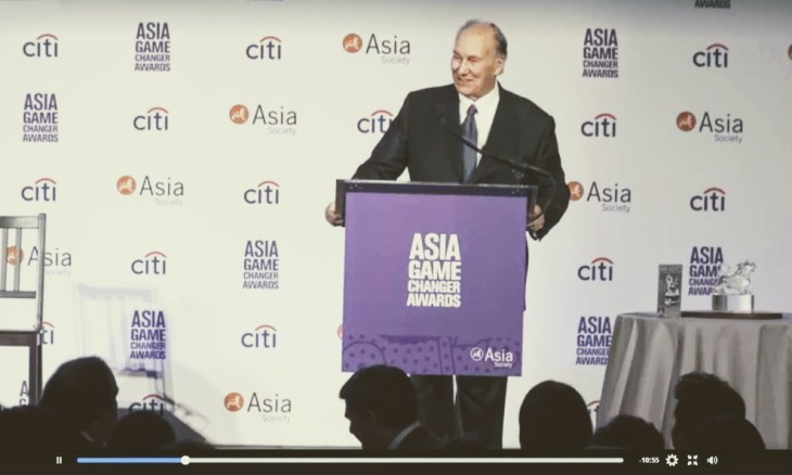 (Video) His Highness the Aga Khan takes the stage to accept Asia Game Changers Lifetime Achievement Award