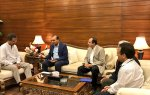 The delegation of Ismaili Community pays visit to the Mayor of Karachi