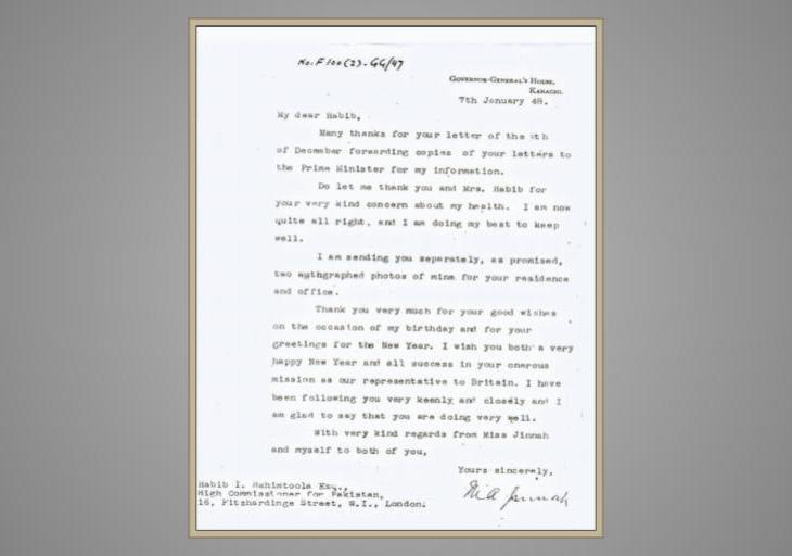 Jinnah's Letter to the Rahimtoola's