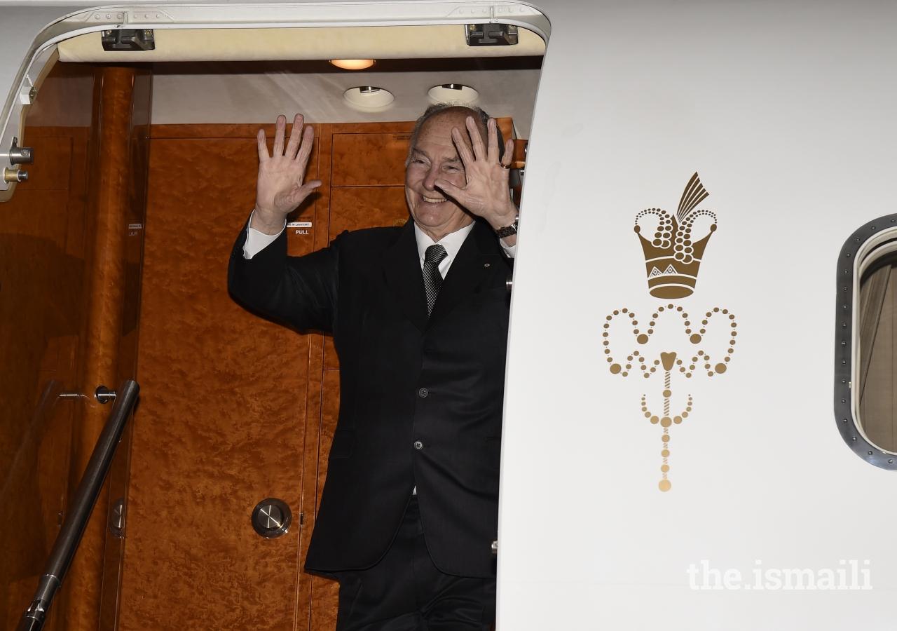 Mawlana Hazar Imam departs Canada