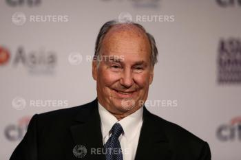 The Aga Khan, founder of Aga Khan Development Network, give a speech at the 2017 Asia Game Changer Awards and Gala Dinner in Manhattan, New York, U.S. November 1, 2017. REUTERS/Amr Alfiky