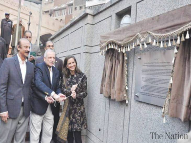 Renovated by Aga Khan Trust for Culture Pakistan, Wazir Khan Mosque Chowk restored to its original form