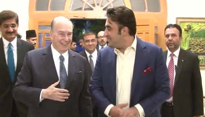 Bilawal Bhutto, Chief Minister Sindh welcome Prince Karim Aga Khan to Karachi