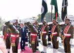 Guard of Honour presented to His Highness Prince Karim Aga Khan