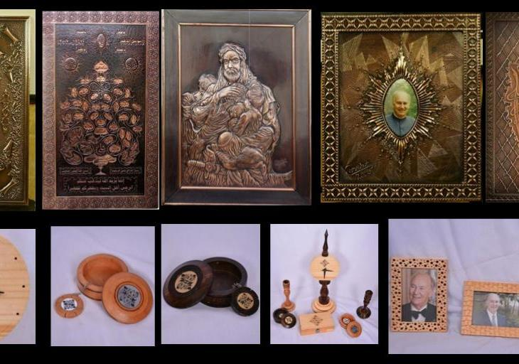 Ghazwan Moussa: Wood and copper artist from Syria