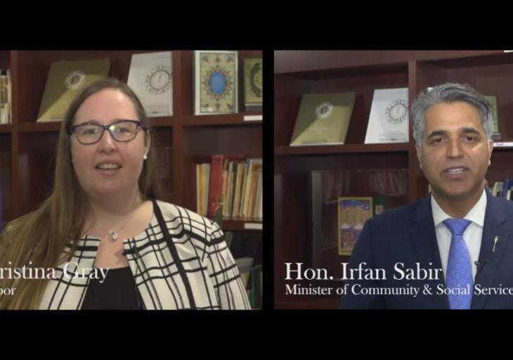 Salgirah Mubarak Video Message from Government of Alberta Minister Christina Gray & Minister Irfan Sabir