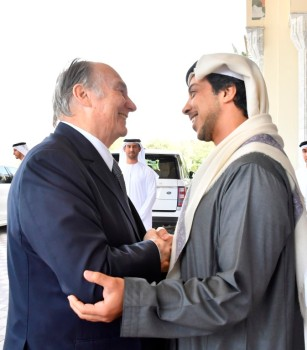 Mansour bin Zayed receives Aga Khan IV