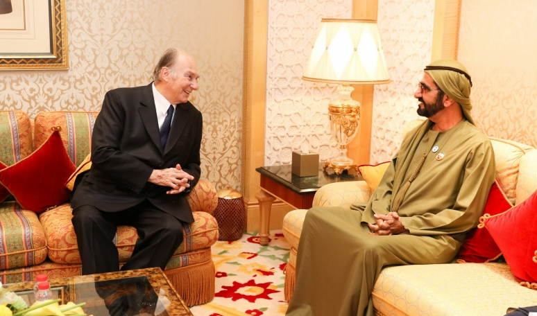 His Highness the Aga Khan meets with His Highness Sheikh Mohammed bin Rashid in Dubai